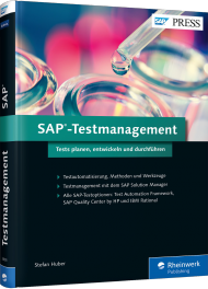 SAP-Testmanagement, ISBN: 978-3-8362-3805-2, Best.Nr. RW-3805, erschienen 01/2016, € 69,90