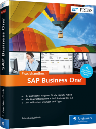 SAP Business One - Das Praxishandbuch, ISBN: 978-3-8362-4061-1, Best.Nr. RW-4061, erschienen 08/2016, € 59,90