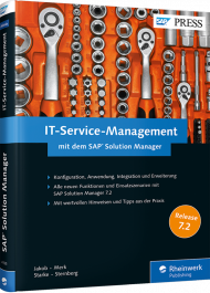 IT-Service-Management mit dem SAP Solution Manager, ISBN: 978-3-8362-4195-3, Best.Nr. RW-4195, erschienen 01/2017, € 69,90