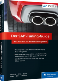 Der SAP-Tuning-Guide, ISBN: 978-3-8362-4280-6, Best.Nr. RW-4280, erschienen 01/2018, € 69,90