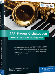 SAP Process Orchestration und SAP Cloud Platform Integration, ISBN: 978-3-8362-4481-7, Best.Nr. RW-4481, erschienen 01/2018, € 79,90