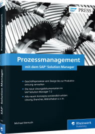 Prozessmanagement mit dem SAP Solution Manager, ISBN: 978-3-8362-5985-9, Best.Nr. RW-5985, erschienen 01/2018, € 79,90