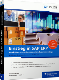 Einstieg in SAP ERP, ISBN: 978-3-8362-6298-9, Best.Nr. RW-6298, erschienen 08/2019, € 49,90