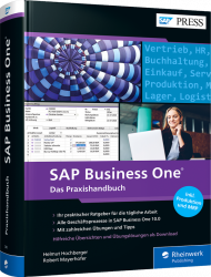 SAP Business One, ISBN: 978-3-8362-7245-2, Best.Nr. RW-7245, erschienen 09/2020, € 79,90