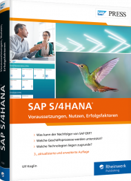 SAP S/4HANA, ISBN: 978-3-8362-7574-3, Best.Nr. RW-7574, erschienen 09/2020, € 69,90