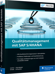 Qualitätsmanagement mit SAP S/4HANA, ISBN: 978-3-8362-7990-1, Best.Nr. RW-7990, € 79,90