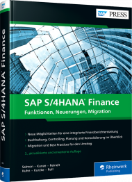 SAP S/4HANA Finance, ISBN: 978-3-8362-8034-1, Best.Nr. RW-8034, erschienen 04/2021, € 79,90