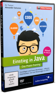 Einstieg in Java  - Das Praxis-Videotraining, Best.Nr. GP-2881, € 35,95