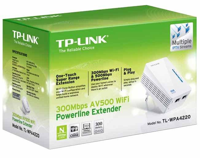 tp link av500 wlan powerline extender tl wpa4220 erschienen bei tp link. Black Bedroom Furniture Sets. Home Design Ideas